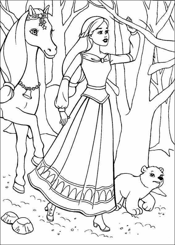 Barbie and The Magic Pegasus Coloring in Pages 11