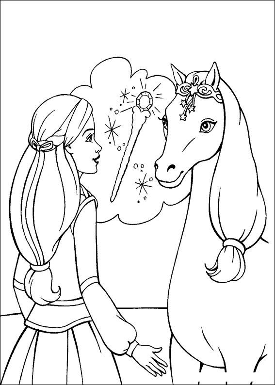 Barbie and The Magic Pegasus Coloring in Pages 12