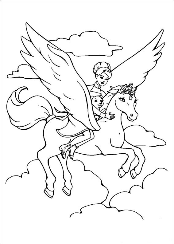 Barbie and The Magic Pegasus Coloring in Pages 14