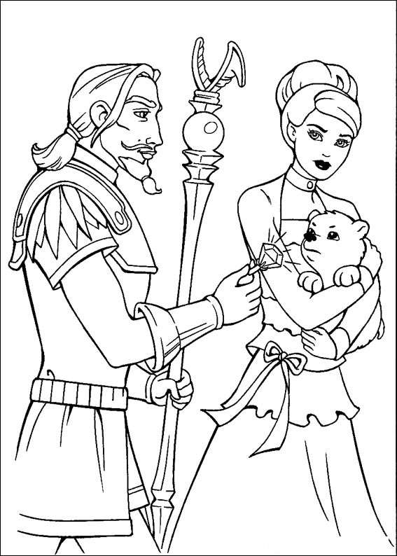 Barbie and The Magic Pegasus Coloring in Pages 15