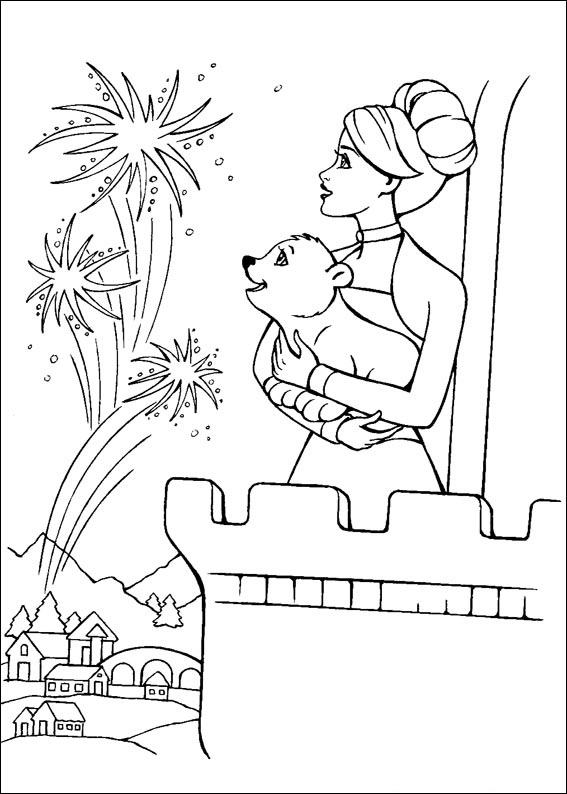 Barbie and The Magic Pegasus Coloring in Pages 3