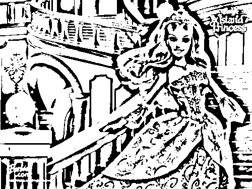 Barbie as The Island Princess Coloring in Pages 1