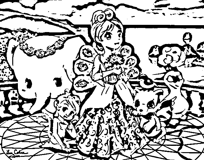 Barbie as The Island Princess Coloring in Pages 3
