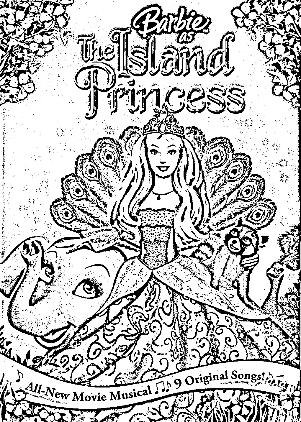 Barbie as The Island Princess Coloring in Pages 9