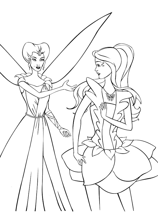 Barbie Fairytopia Coloring in Pages 2