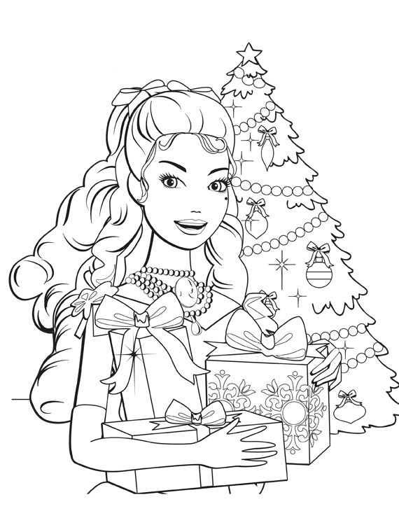 Barbie in a Christmas Carol Coloring in Pages 1