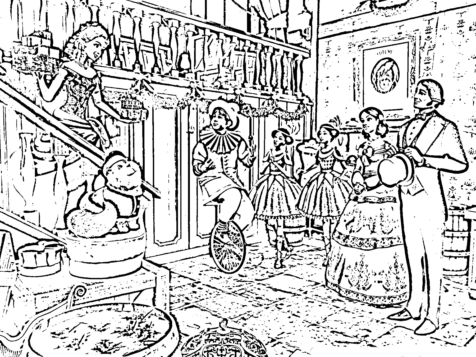 barbie in a christmas carol coloring in pages