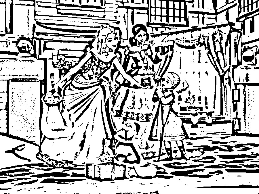 Barbie in a Christmas Carol Coloring in Pages 4