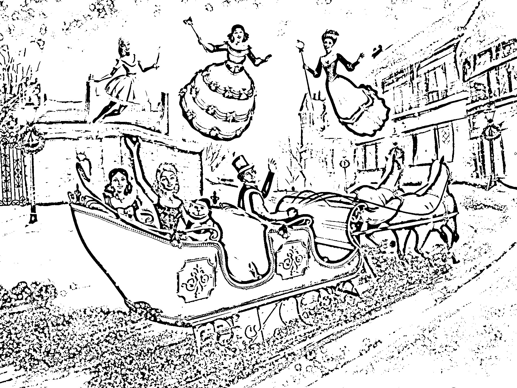 Barbie in a Christmas Carol Coloring in Pages 6