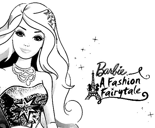 Barbie in a Fashion Fairytale Coloring in Pages 1