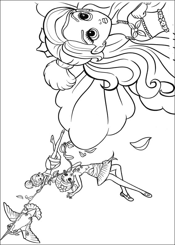 Barbie Thumbelina Coloring in Pages 1
