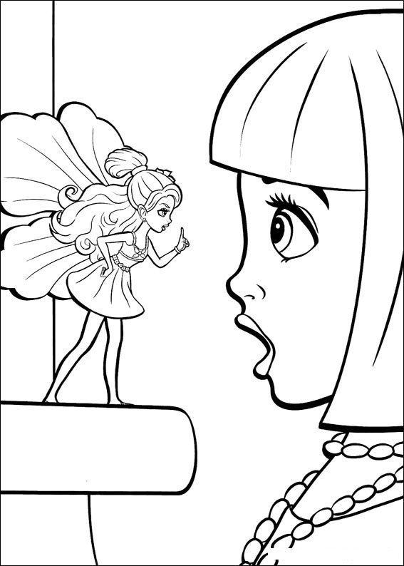 Barbie Thumbelina Coloring in Pages 10