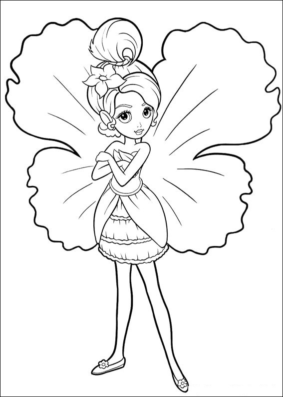 Barbie Thumbelina Coloring in Pages 12