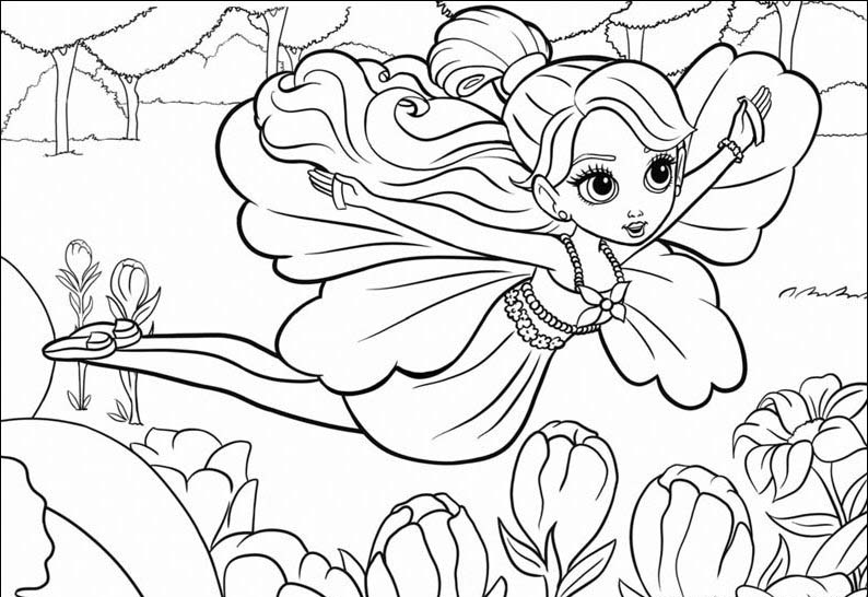 Barbie Thumbelina Coloring in Pages 4