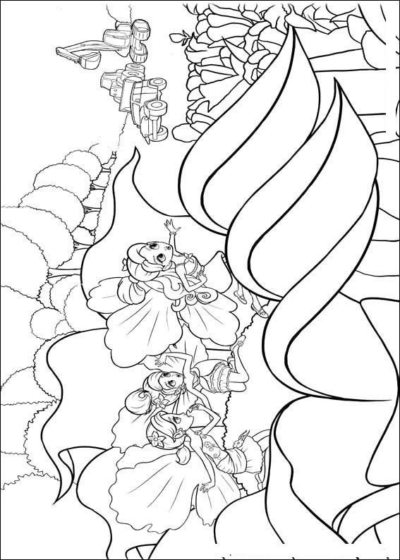 Barbie Thumbelina Coloring in Pages 9