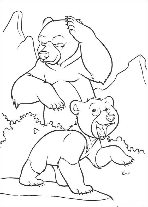 Brother Bear Coloring in Pages 11