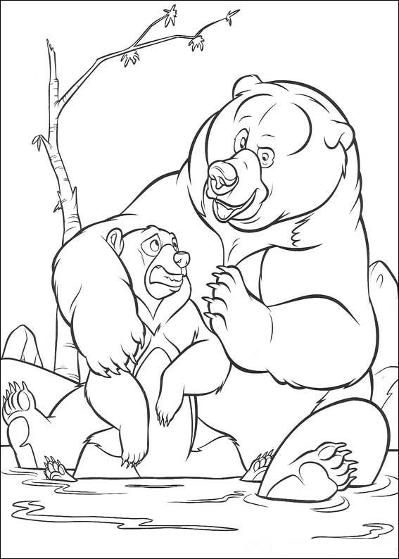 Brother Bear Coloring in Pages 2