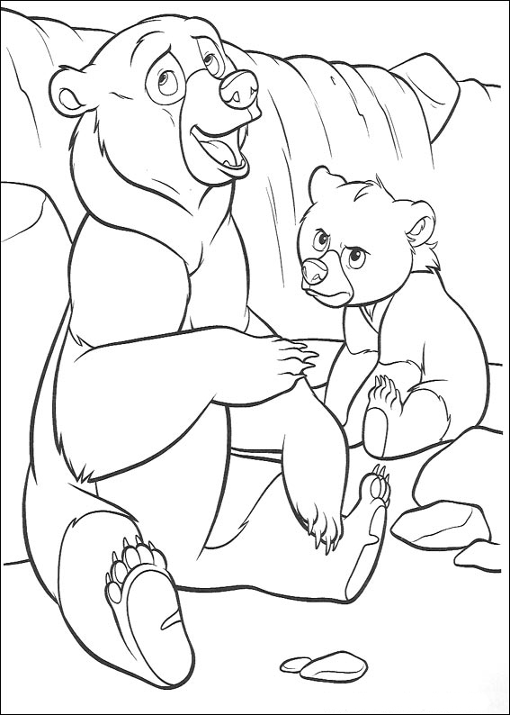 Brother Bear Coloring in Pages 4