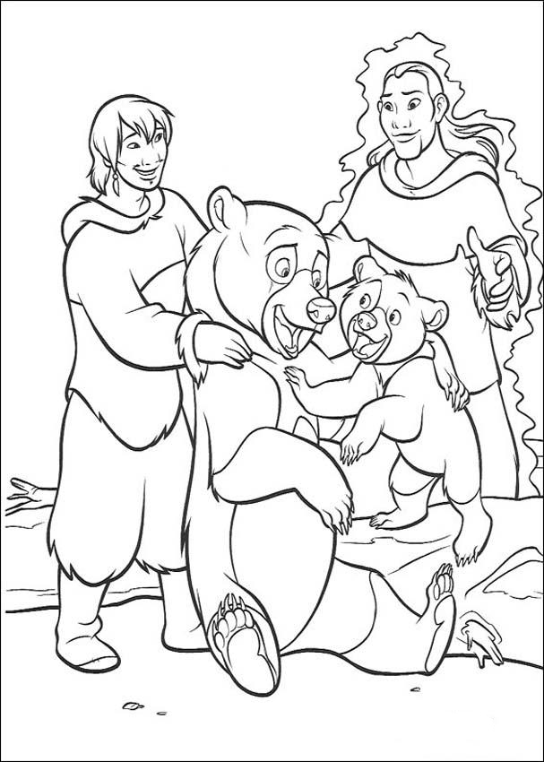 Brother Bear Coloring in Pages 8