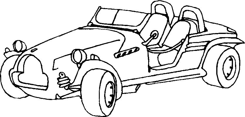 Cars Coloring in Pages 7