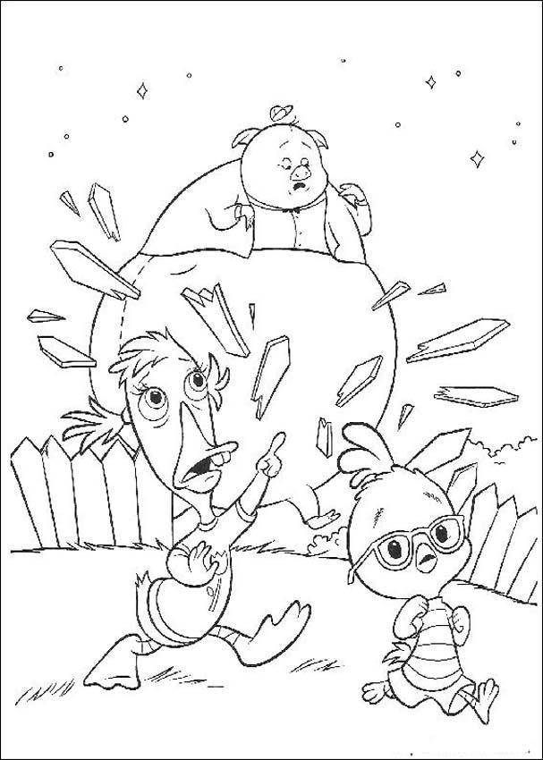 Chicken Little Coloring in Pages 1