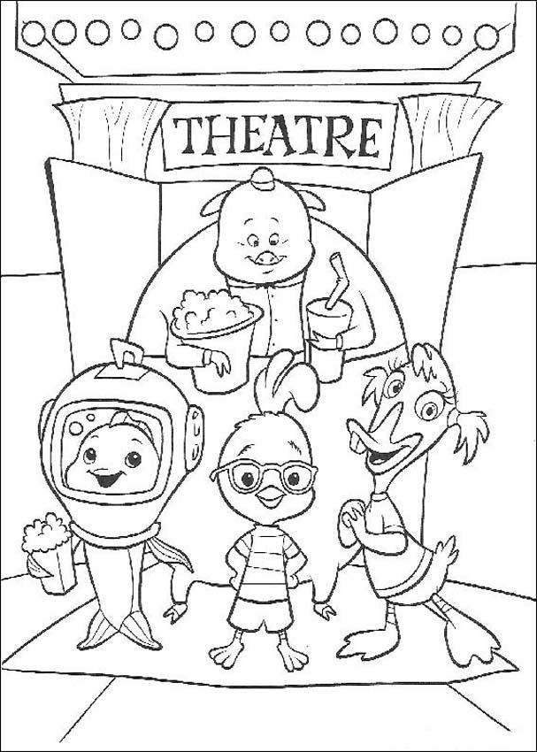 Chicken Little Coloring in Pages 4