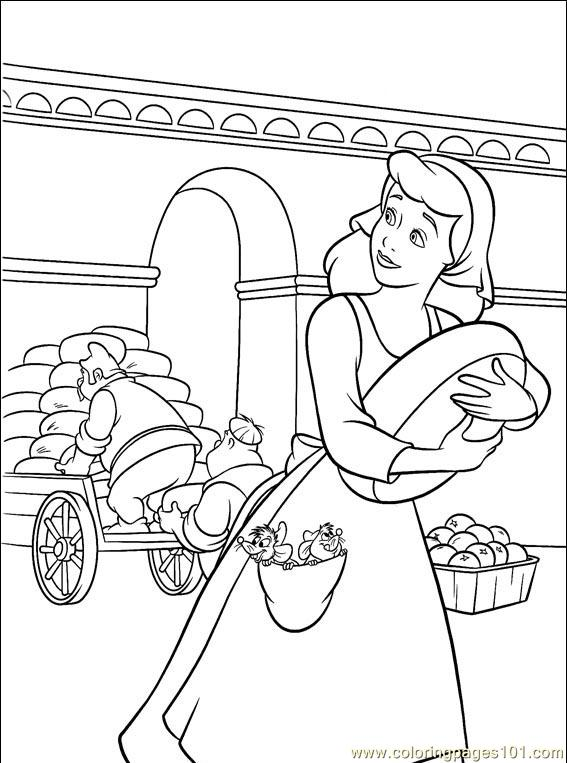 Cinderella 3 Coloring in Pages 1