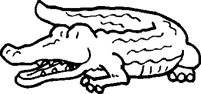 Crocodile Coloring in Pages 10