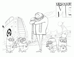 Despicable Me Coloring in Pages 7