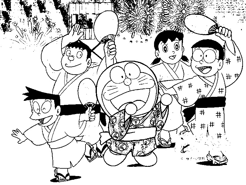 Doraemon Coloring in Pages 11