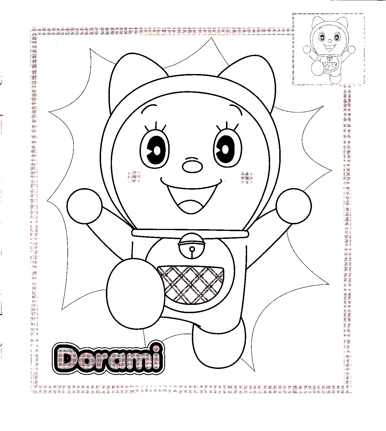 Doraemon Coloring in Pages 2