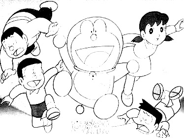 Doraemon Coloring in Pages 6