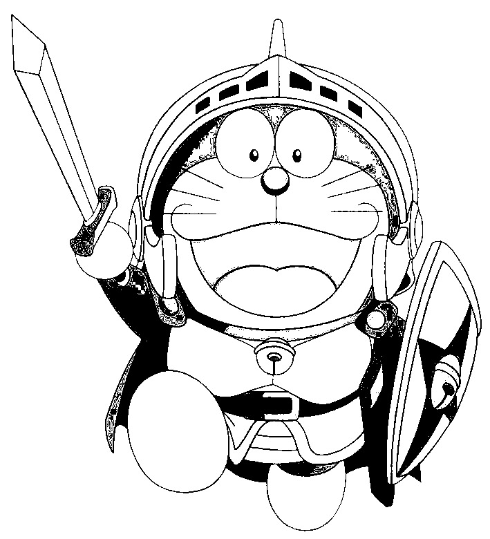 Doraemon Coloring in Pages 7