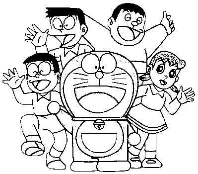 Doraemon Coloring in Pages 8