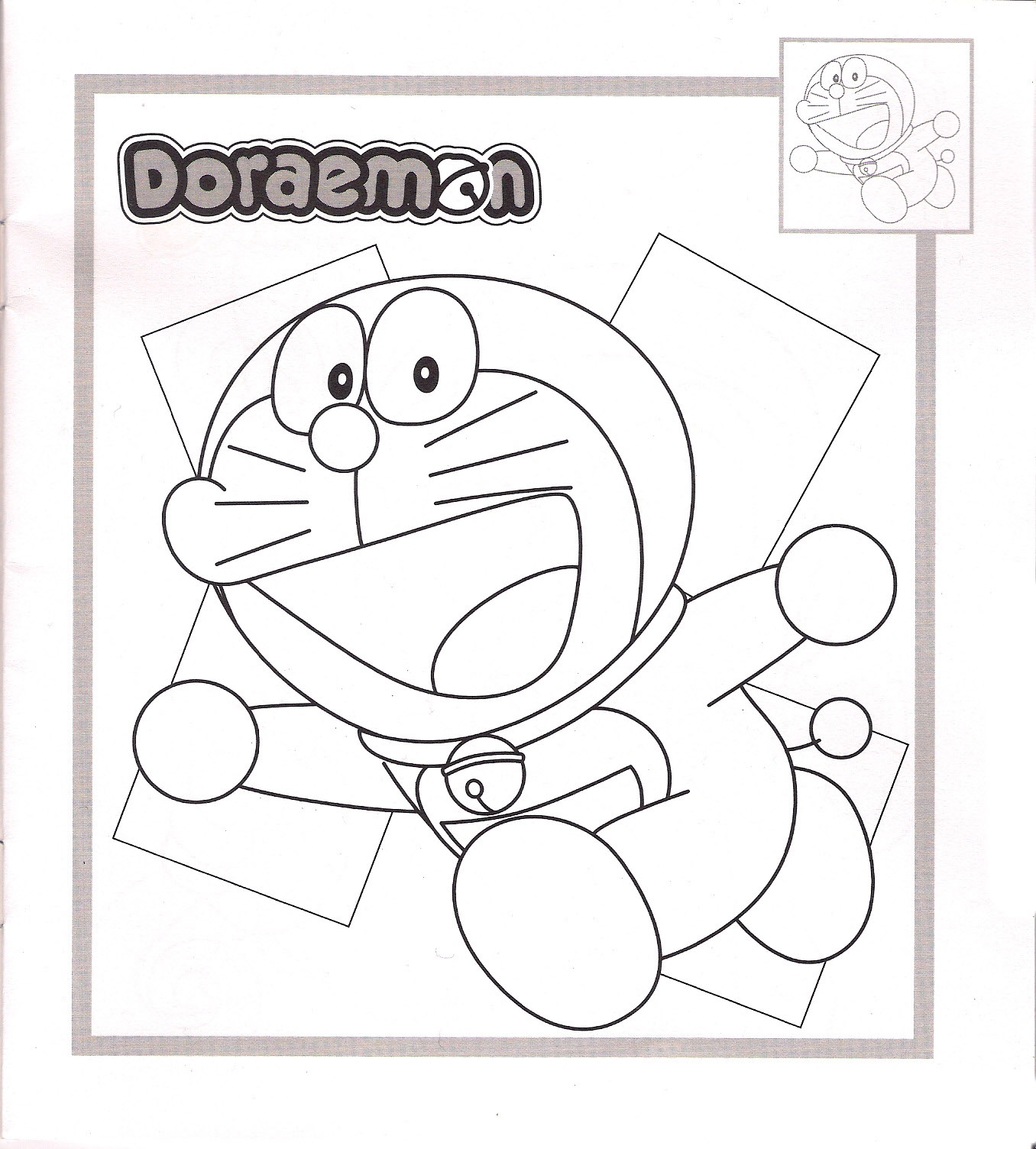 Doraemon Coloring in Pages 9