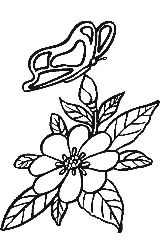 Flower Coloring in Pages 5