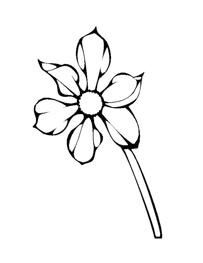 Flower Coloring in Pages 9