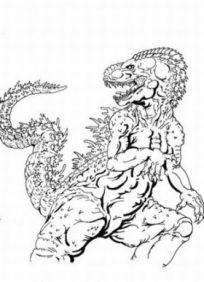 Godzilla Coloring in Pages 12