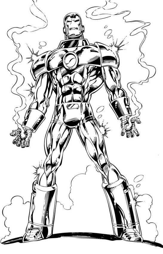 Iron Man Coloring in Pages 2