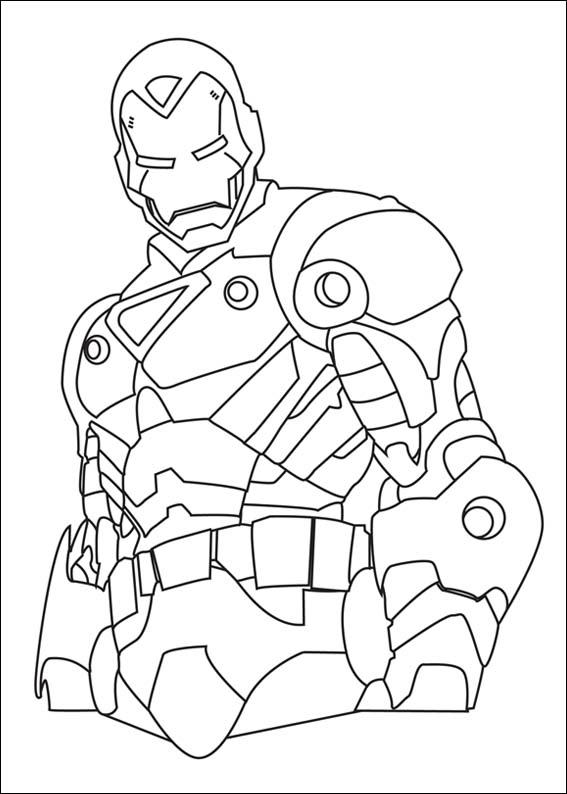 Iron Man Coloring in Pages 4