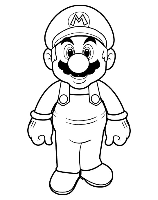 Mario Coloring in Pages 1
