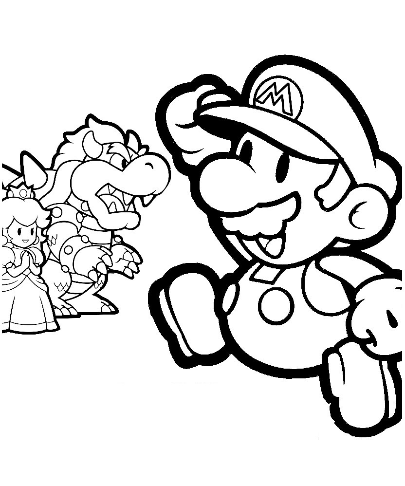 Mario Coloring in Pages 12