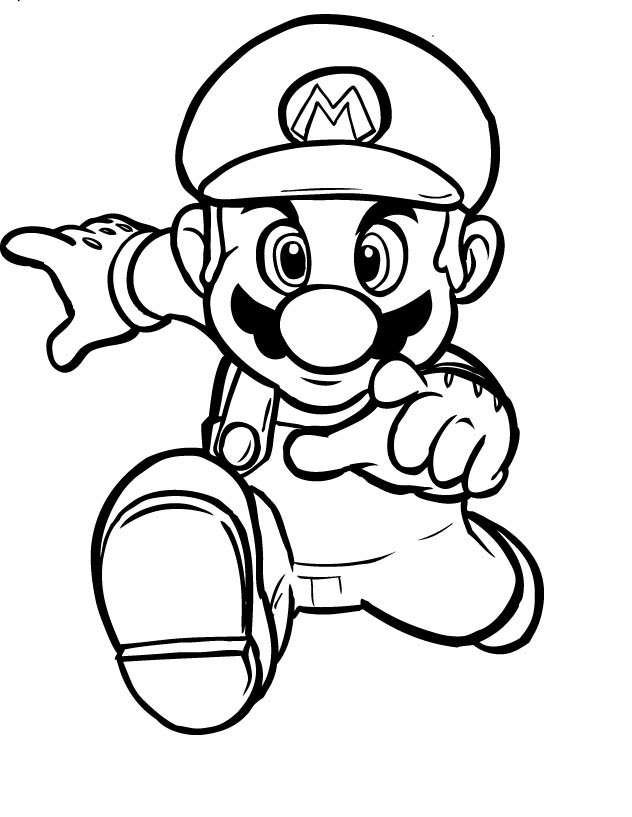 Mario Coloring in Pages 2