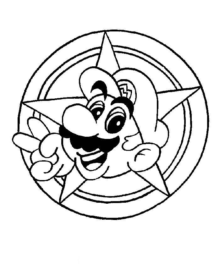 Mario Coloring in Pages 3