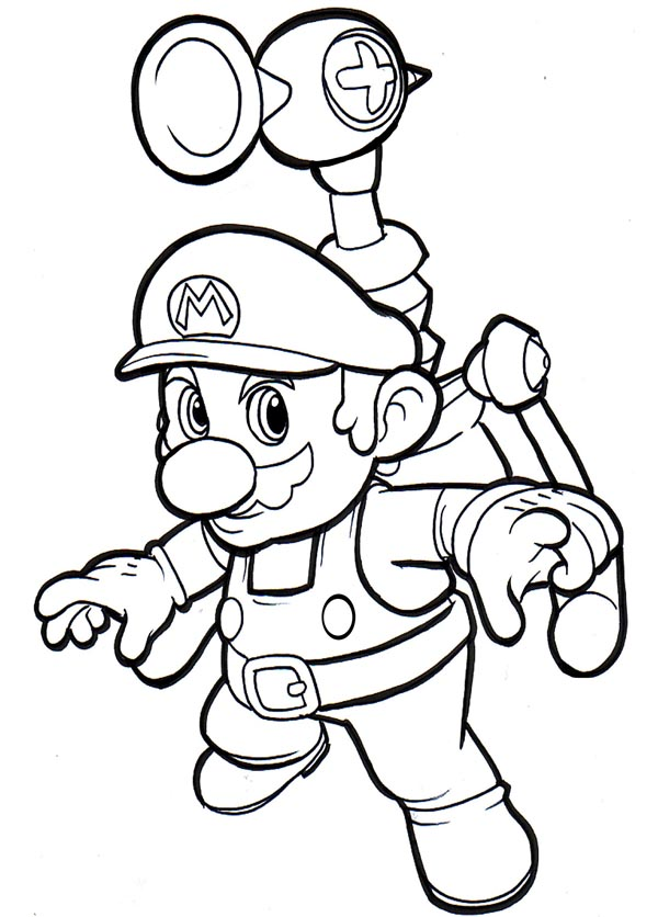Mario Coloring in Pages 6