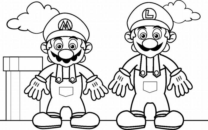 Mario Coloring in Pages 8