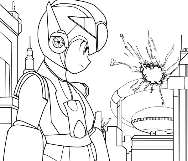 Megaman ZX Coloring in Pages 2