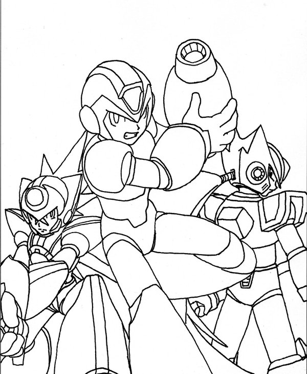 Megaman ZX Coloring in Pages 3