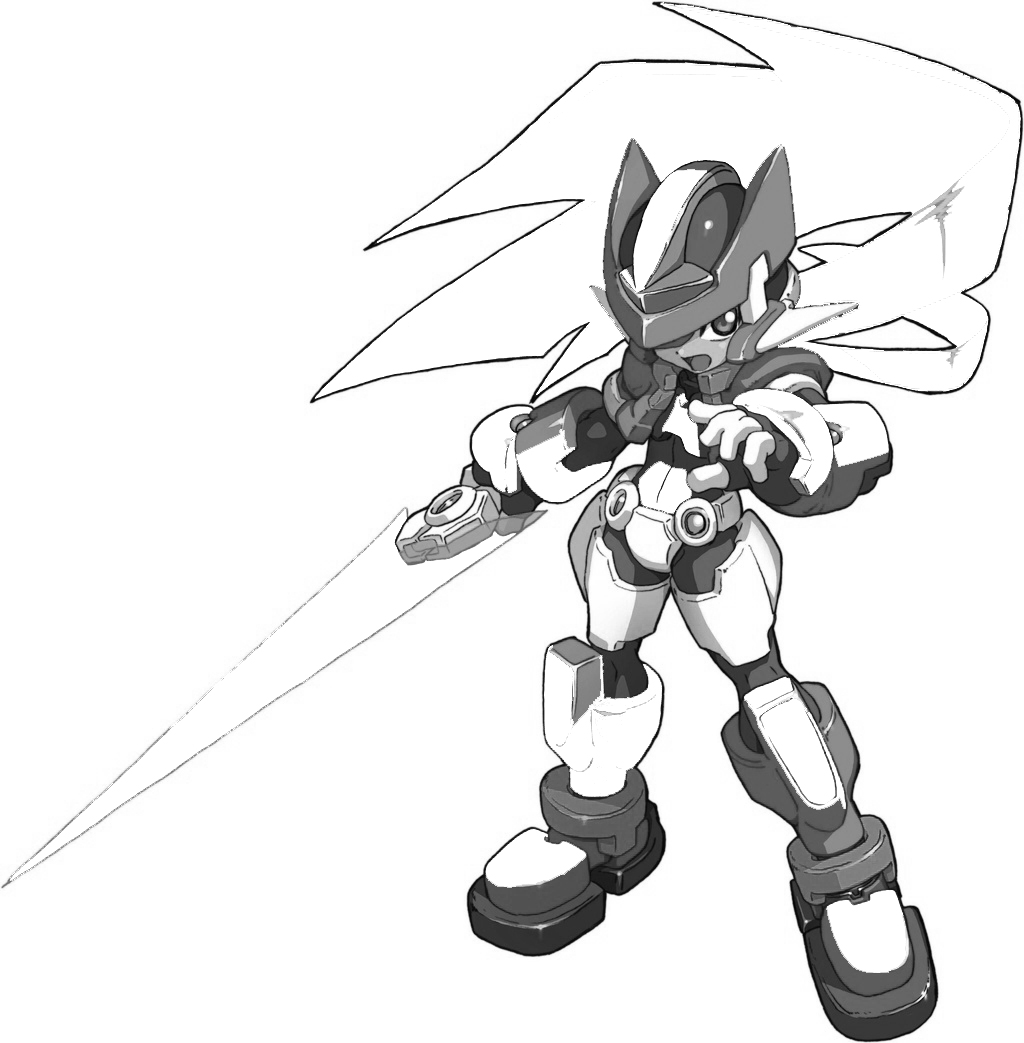 megaman zx coloring in pages