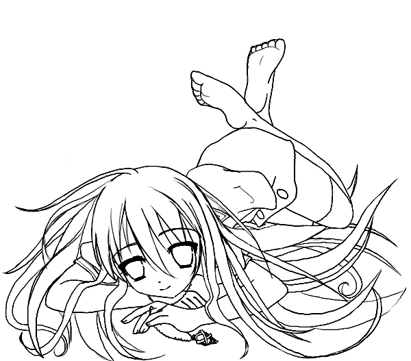 Shakugan No Shana II Coloring in Pages 4